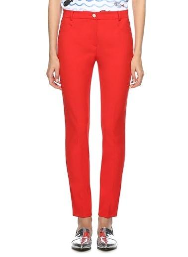 Beymen Club Yüksek Bel Likralı Dar Paça Pantolon Kırmızı